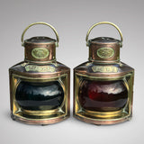 Pair of 19th Century Copper & Brass Ships Lanterns - Main view - 1