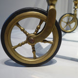 Vintage Brass Drinks Trolley - Detail View Two