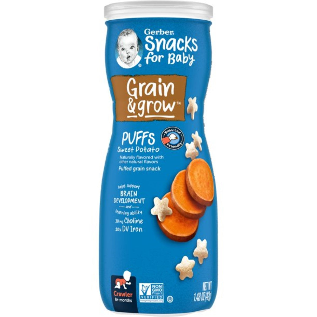 Gerber Puffs 42g (1.48oz) - Sweet Potato