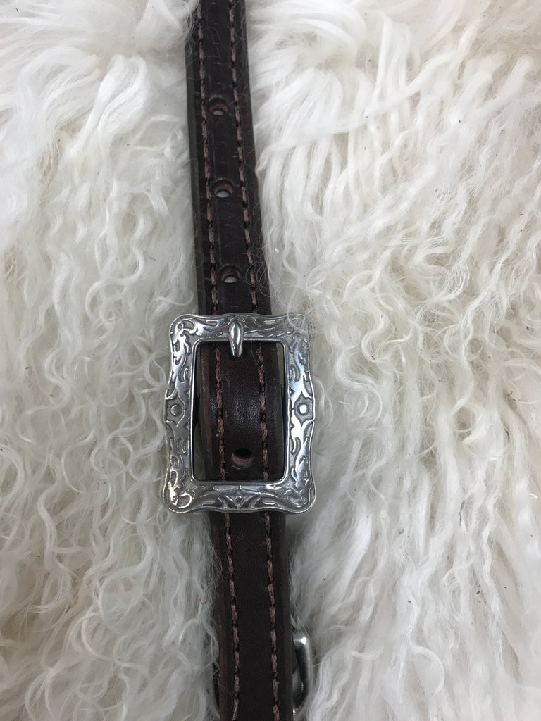 Wither strap dark with stainless buckle