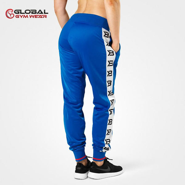 Better Bodies Trinity Track Pants Strong Blue back