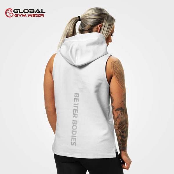 Better Bodies Kensington Sleeveless Hood White back