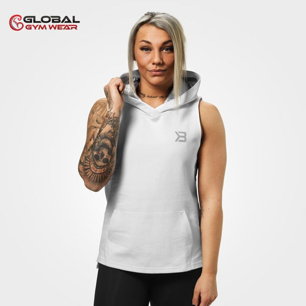 Better Bodies Kensington Sleeveless Hood White