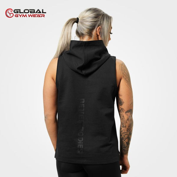 Better Bodies Kensington Sleeveless Hood Black back