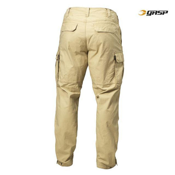 GASP Rough Cargo Pants, Dark Sand Back