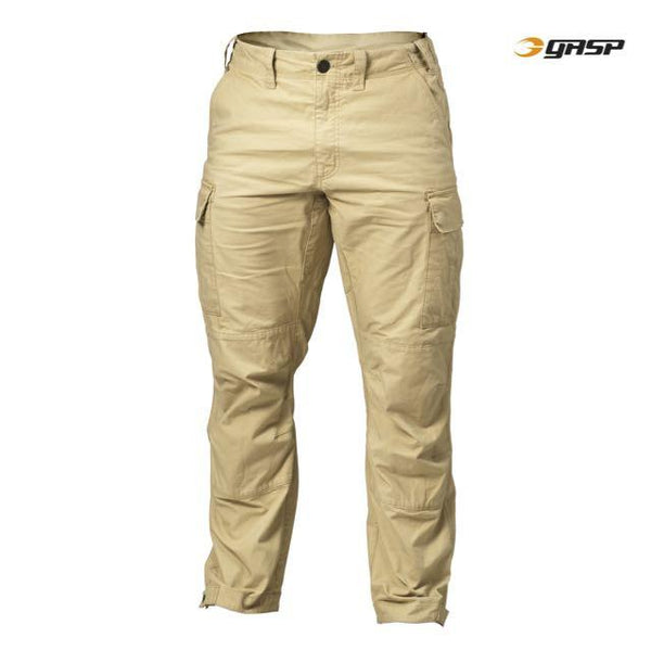 GASP Rough Cargo Pants, Dark Sand