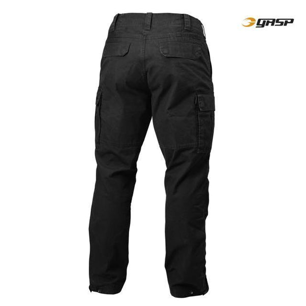 GASP Rough Cargo Pants, Wash Black Back