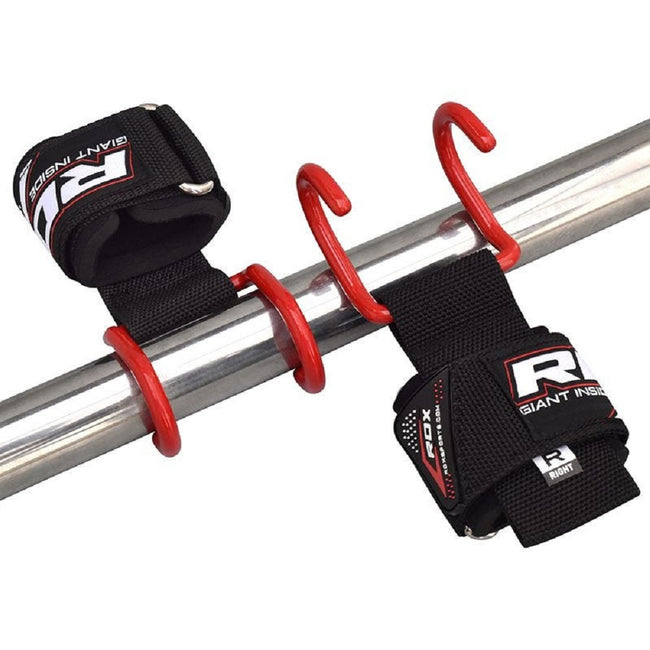 RDX Sports GYM PRO HOOK 15 STRAP RED NEW