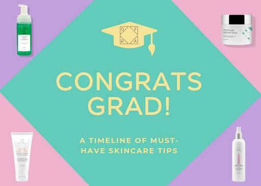 CONGRATS GRAD: A TIMELINE OF MUST-HAVE SKINCARE TIPS