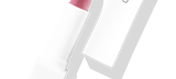 Default Title - mobile Lipstick Exfoliator in white packaging with cap to the right