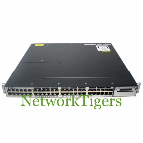 Cisco WS-C3750X-48P-S C3750X Series 48x Gigabit Ethernet PoE+ IP Base Switch