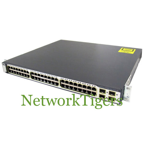 Cisco WS-C3750G-48PS-S 48x Gigabit Ethernet PoE 4x 1G SFP IP Base Switch