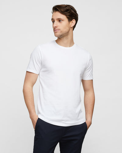 White Wayver T-Shirt Best Selling Essential Crew Tee
