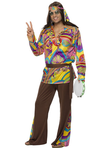 60's/70's Hippie Man Costume - Psychedelic