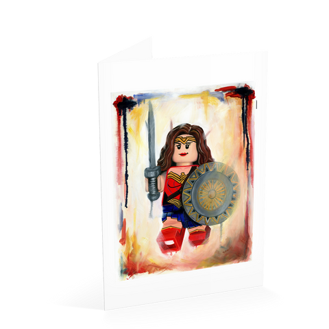 Amazonian Wonder Woman Card