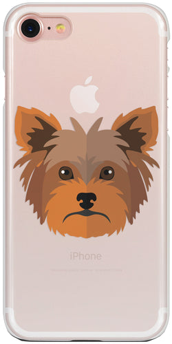 Yorkshire Terrier Átlátszó iPhone Tok