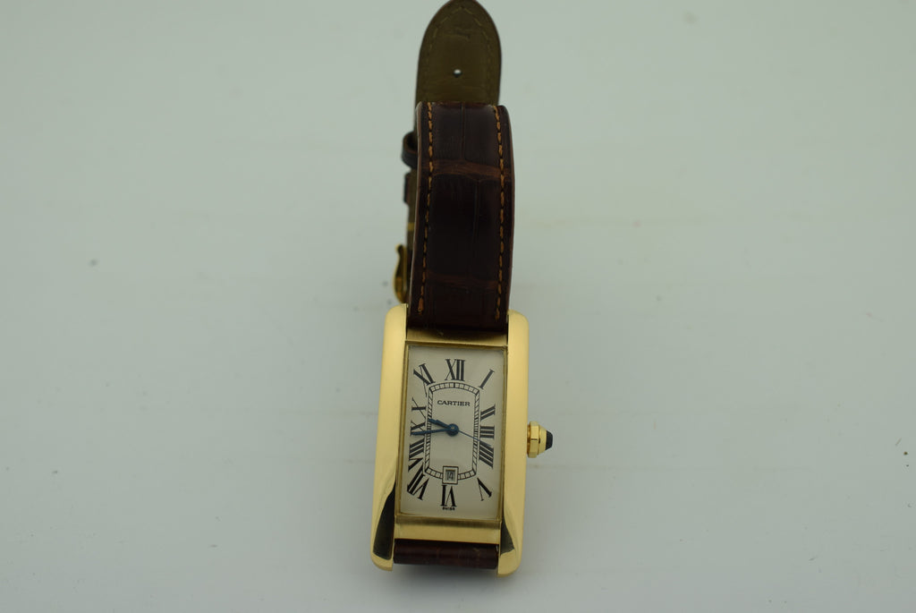 CARTIER Tank Americaine 18kt Rose Gold Ladies Watch