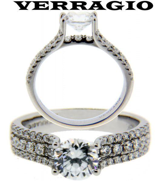 Verragio Insignia 0348 Engagement ring 18K new fits 1ct round