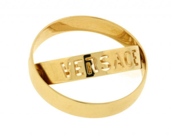 Gianni Versace motion band in 18k gold size 11.5