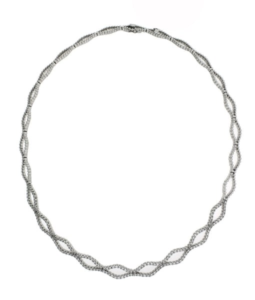 Gregg Ruth 2.15 carat diamond necklace in 18k white gold