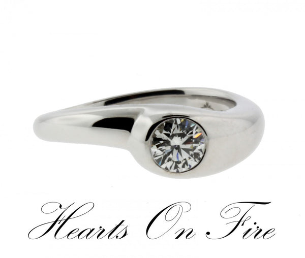 Hearts on Fire ladies .42ct Solitaire diamond engagement ring in 18K White gold