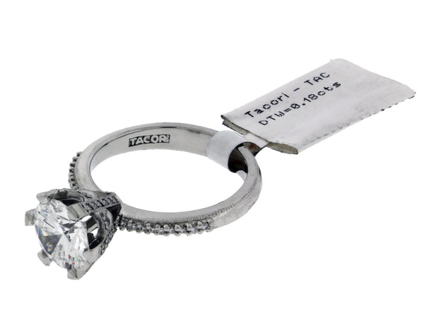 Tacori 2507 RD diamond engagement ring in Platinum fits 2ct diamond size 6.5