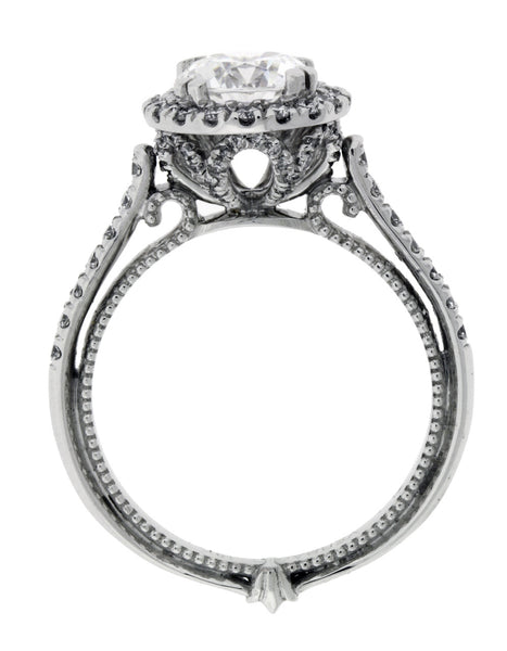 Verragio Couture 0433R diamond halo engagement ring in white gold size 6.25