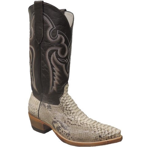 Cowtown Men's Chocolate Cut Python Western Boot N818