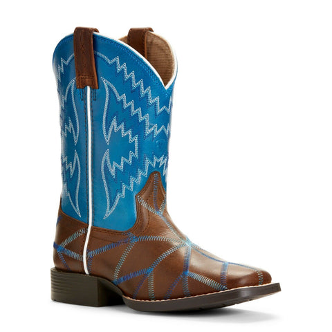 Ariat Children's Twisted Tycoon Brown & Blue Western Boots 10027277