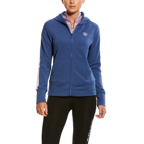 Ariat® Ladies AriatTEK Milton 3D Indigo Blue Full-Zip Hoodie 10025650 - Wild West Boot Store