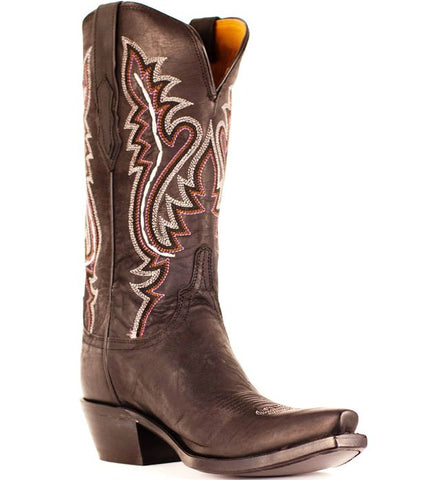 Lucchese Ladies Cassidy Chocolate Madras Goat Western Boots M5002.S54