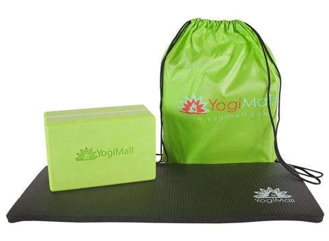 Yoga Knee Pad, Yoga Block and Carry Bag