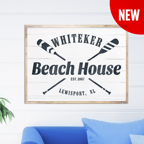 Beach House personalized print