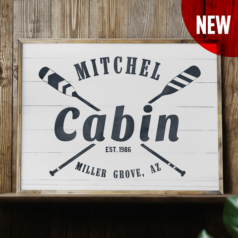Cabin personalized Print