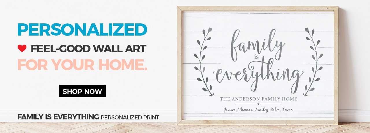 Statement-making personalized wall art for 2019