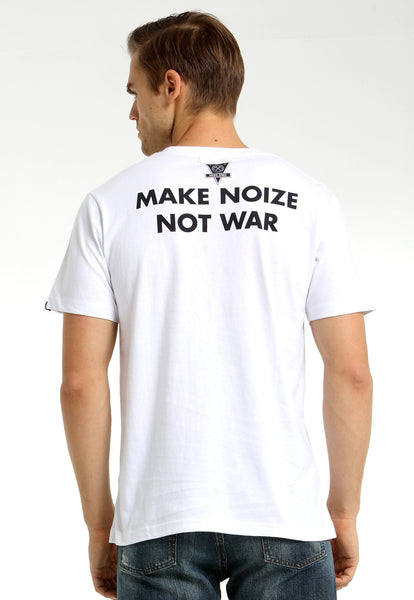 Make Noize Not War White Tee