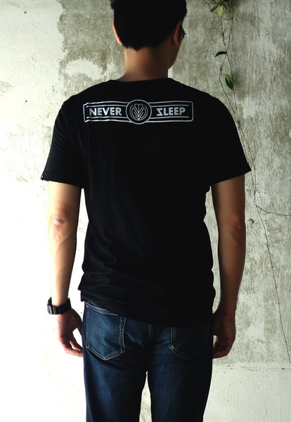 Never Sleep Cafe Black Tee