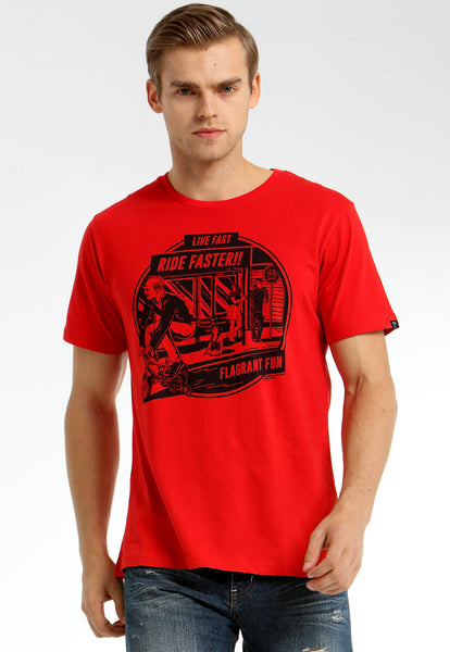 Live Fast Ride Faster Red Tee