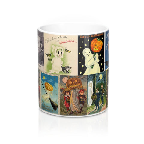 Vintage Halloween Ghost Postcards Graphic Coffee Mug 11 or 15 oz.