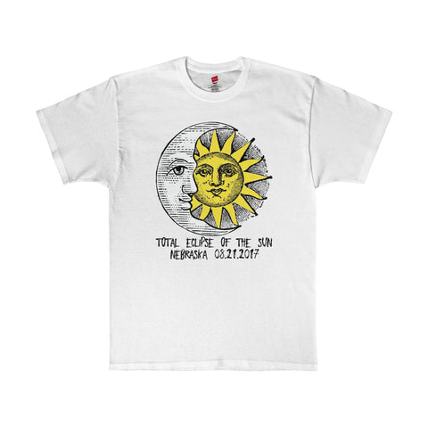 Nebraska Total Eclipse of The Sun 2017 T-Shirt in 13 Colors Unisex Sizes S-5XL