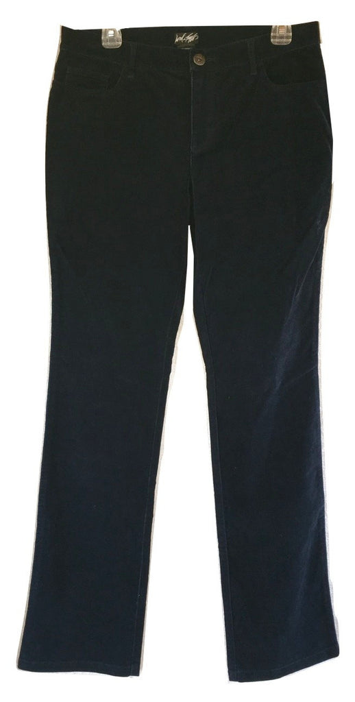 Lord & Taylor Mid-Rise Straight Leg Corduroy Pants in Twilight (Blue), Size 8 - Swanky Bazaar - 1
