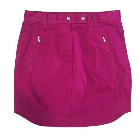 Trina Turk Zipper Pockets and Shirttail Hem Stretch Mini Skirt Size 6