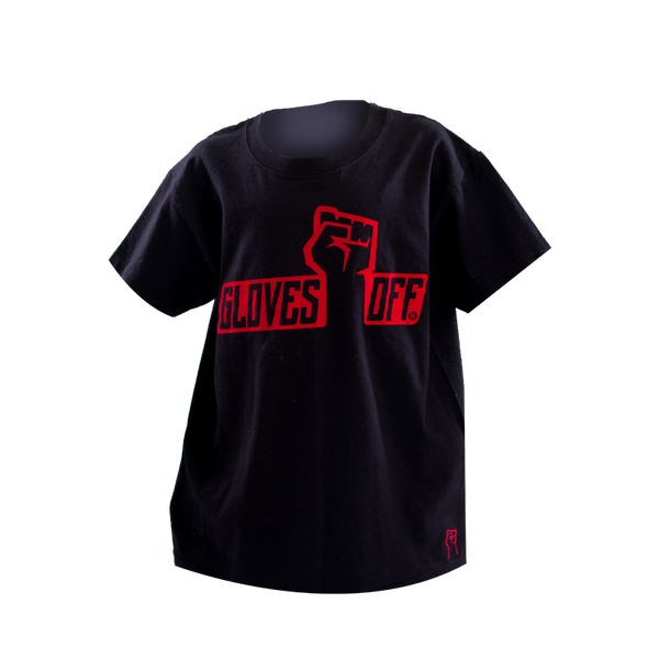 KIDS T-SHIRT BLACK & RED