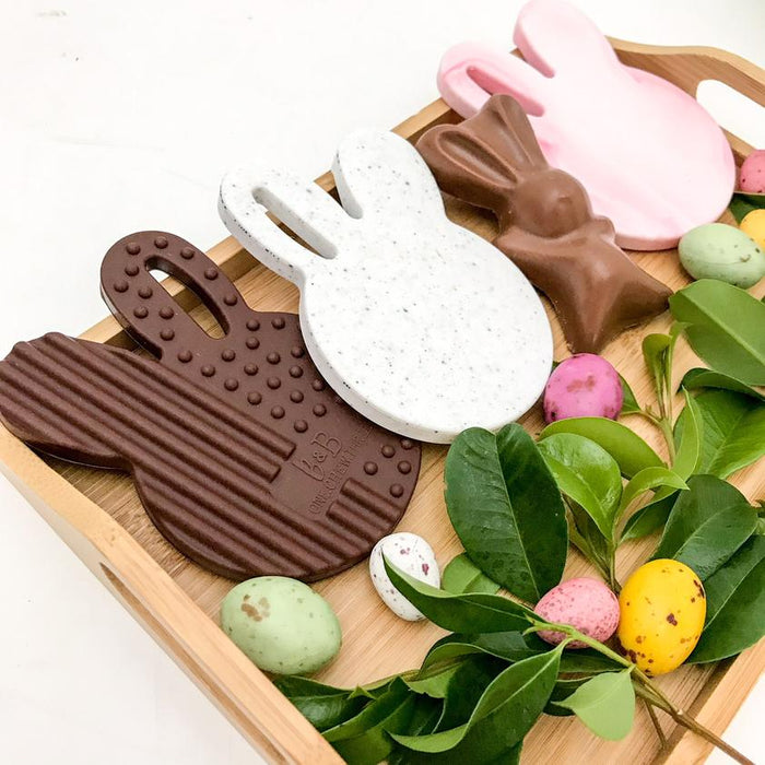 ONE.CHEW.THREE Chocolate Bunny Silicone Teether