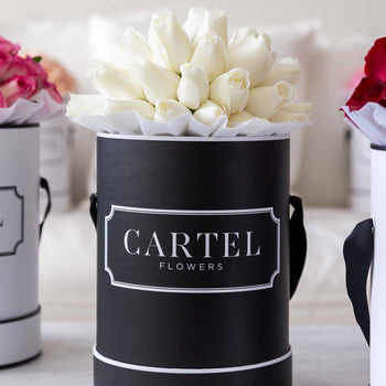 PREMIUM FRESH WHITE BLOOMS Black Box (VIC, Australia Only)