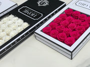 LASTING ROSES Long Box - Choose your colour. (Available Worldwide)