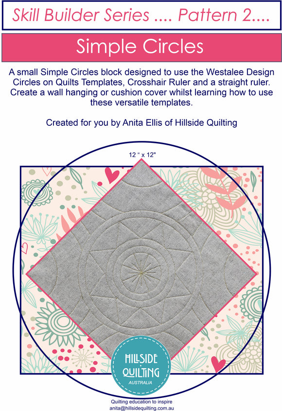 Simple Circles Block Pattern; Skill Builder Pattern 2