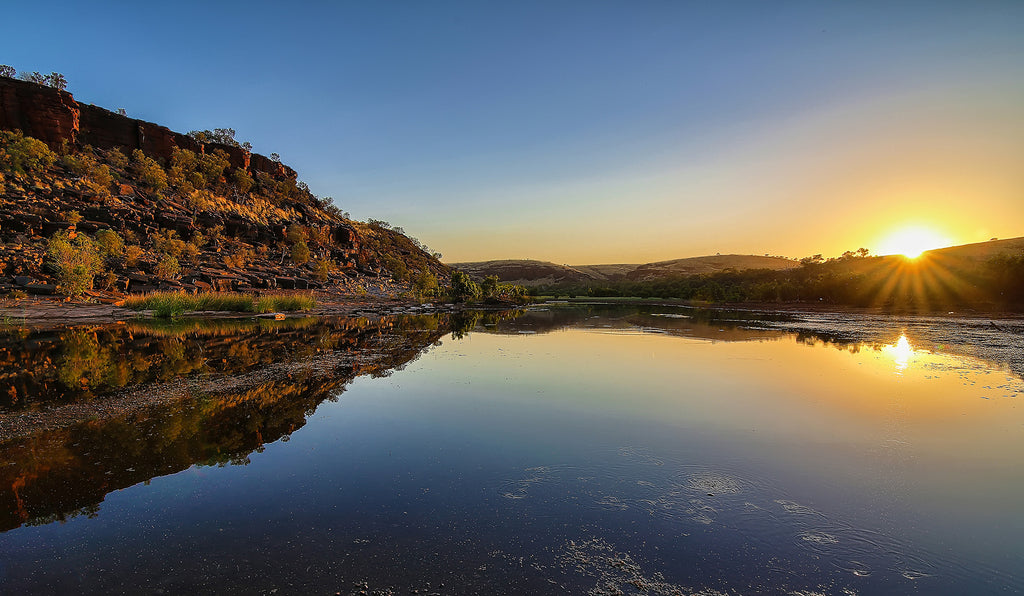 Fortescue River Sunrise over water