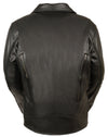 Men's Tripple Stitch Beltless Biker Jacket - Divine Leather USA - 5