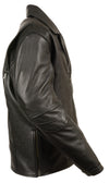 Men's Tripple Stitch Beltless Biker Jacket - Divine Leather USA - 6